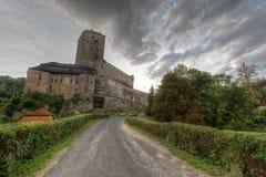 Замок Kost готический взгляд городка республики cesky чехословакского krumlov средневековый старый Стоковые Фотографии RF