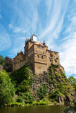 Замок Kriebstein, Саксония Стоковые Изображения RF