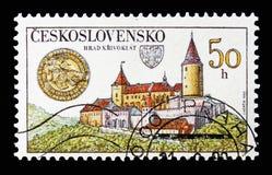 Замок Krivoklat, сокровища чехословацких замков и замоки стоковое изображение