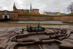 Замок Kronborg в Дании Стоковая Фотография RF