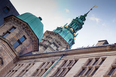 Замок Kronborg шпиля Стоковые Фотографии RF