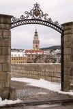 Замок Krumlov, чехия Стоковые Фотографии RF