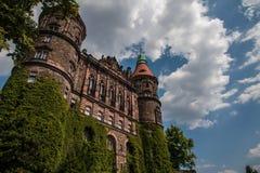 Замок Ksiaz в Польше Стоковая Фотография