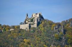 Замок Kuenringer руин, Durnstein, Wachau стоковая фотография