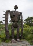Замок Laputa в солдате робота неба Стоковое Изображение RF