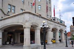 Замок Laurier Fairmont в Оттаве, Канаде стоковые изображения