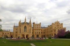 Замок Lednice в чехии Стоковая Фотография