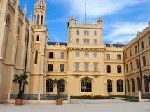 Замок Lednice в чехии стоковое фото