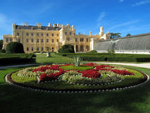 Замок Lednice в южной Моравии, чехии стоковое изображение rf