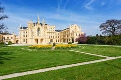 Замок Lednice на летний день Стоковая Фотография