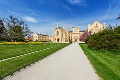Замок Lednice на летний день Стоковые Фото