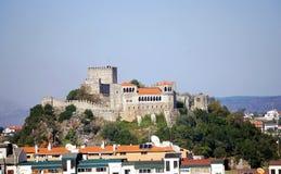 замок leiria стоковая фотография rf