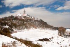 Замок Leuchtenburg в зиме Стоковое Изображение RF