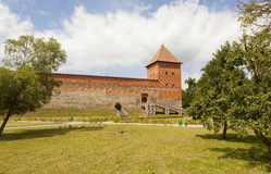 Замок Lida (замок Gedimina) lida Область Grodno Беларусь Стоковое Изображение
