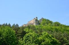 Замок Lietava, замок истории Словакии стоковые изображения