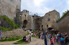Замок Lietava, замок истории Словакии стоковое изображение rf