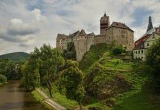 Замок Loket в чехии Стоковое Изображение RF