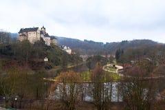 Замок Loket и чехия городища Стоковая Фотография RF