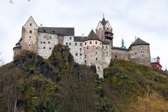 Замок Loket и чехия городища Стоковое фото RF