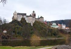 Замок Loket и чехия городища Стоковое Изображение RF