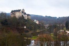 Замок Loket и чехия городища Стоковая Фотография