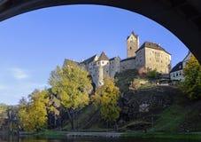 Замок Loket, Чешская Республика Стоковая Фотография