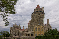 Замок Loma Касы в Торонто, Онтарио Стоковое фото RF