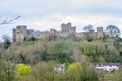 Замок Lulow, Шропшир, Британия Стоковая Фотография RF