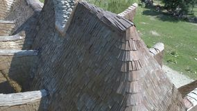 Замок Lut в Сибиу, крыша видеоматериал