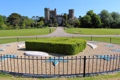 Замок Malahide от парка Стоковое Изображение RF