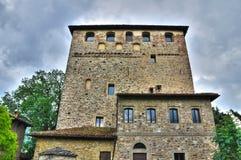 Замок Malaspina-Dal Verme. Bobbio. Эмилия-Романья. Италия. стоковые фото