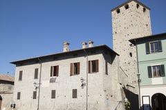 Замок Malaspina Varzi Павия Италия Стоковые Изображения RF