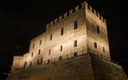 Замок Malatesta Mondaino (Римини) Стоковое Изображение RF