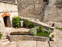 Замок Malcesine Италия Scaligeri стоковое фото rf