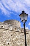 Замок Manfredonia (Фоджа, Апулия, Италия) Стоковое фото RF