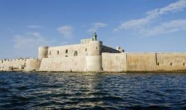 Замок Maniace, Сицилия стоковое фото rf