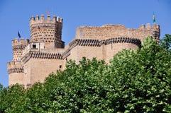 Замок Manzanares el реальный Стоковые Изображения RF