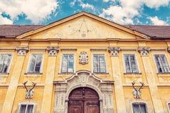 Замок Marchegg, Австрия, ретро фильтр стоковые фотографии rf