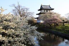 Замок Matsumae в Японии, 2015 Стоковые Изображения RF