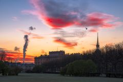 Замок Mikhailovsky замка инженера в Санкт-Петербурге стоковые фото