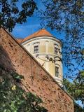 Замок Mikulov в временени стоковые изображения
