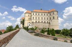 Замок Mikulov на холме Стоковые Изображения