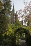 Замок, Minnewater, Брюгге, Бельгия Стоковое Изображение RF
