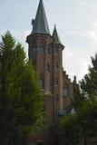 Замок, Minnewater, Брюгге, Бельгия Стоковые Изображения RF