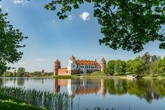 Замок Mir в Беларуси на дневном времени Стоковое фото RF