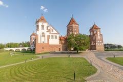 Замок Mir в Беларуси на дневном времени Стоковая Фотография RF