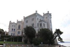 Замок Miramare в Италии Стоковое Фото