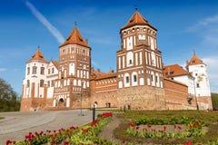 Замок Mirskij Город Mir Беларусь Стоковые Фото