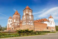 Замок Mirskij Город Mir Беларусь Стоковые Изображения