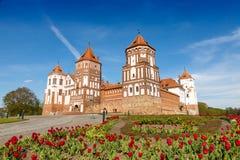 Замок Mirskij Город Mir Беларусь Стоковое Изображение RF